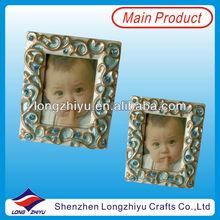 Lovely gifts custom metal mini photo frams metal nameplate frame for promotion