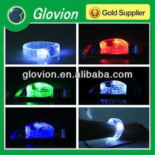 Promotional glow bracelet cheap sound controlled led bracelet shining bracelet by voice control