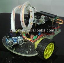 DIY Remote Control Ultrasonic Ranging Car For Arduino