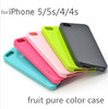 Candy Color Soft TPU Cover Case for IPHONE 5/5S sublimated phone case