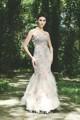 Vente chaude populaire 2013 volant de sol- longueur sirène robe de mode de style européen