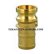 Brass Cam Lock Fluid Connector Type E