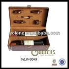 Antique Leather Wine Case Pine Wine Box (SGS&BV)