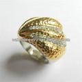 strass anel de ouro anéis de design para as mulheres