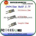 3.7v batteria/3.7v atl batteria 9 mah batteria agli ioni di li