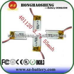 MP3 batteries,wireless headset li ion battery cell 3.7v