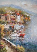 Mediterranean Sea Coast Art Oil Painting