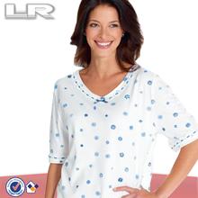 Low Cost /bottom price Customize Women pyjama manafacturer Custom made ladies cotton nightshirts