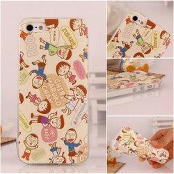 Multi cute cartoon pattern TPU case with dust plug,for iphone 5 5s TPU case