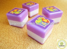 Mini Plastic Square Stamp With Your Custom Design/Teacher Rubber Box Stamp/Plastic Rubber Stamp