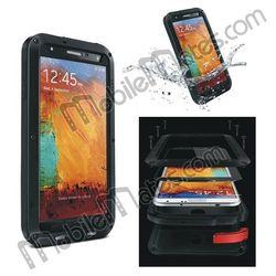 Waterproof Shockproof Dustproof Case for Samsung Galaxy Note III N9005 N9000 Hybrid Case Metal + Silicone + Gorilla Glass