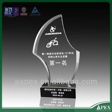 engraved crystal pedestal award display stand