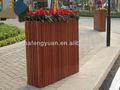 Eco- friendly madeira quadrados vasos de flores para decoração de jardim