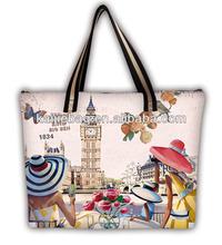 Souvenir wholesale custom oem ladies printed handbag