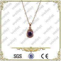 rose gold plating stainless steel classic custom fashion gemstones pendant