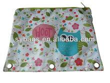 foldable colorful pencil bag / portable cartoon for children / 2014 school pencil bag with zipper