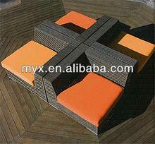 2014 New China Manufacture Garden Furniture Aluminum wicker rattan furniture