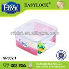 Square waterproof storage plastic box with lock system