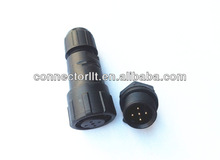 5 pin connector high quality waterproof nylon connector IP68