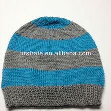 2014 black free knit pattern for hat earflaps FRN08