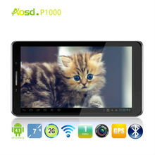 Cheapest 7 inch sun rom writer MTK6572 256MB+512MB 800x 480 Wifi Two SIM Cards GPS P1000 MID
