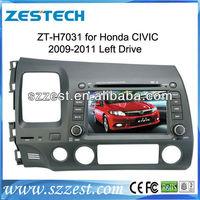 ZESTECH Windows CE Version For HONDA CIVIC Car DVD Player with GPS 3G RDS digital TV Bluetooth Car DVD HONDA CIVIC 2005-2007