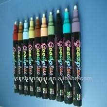 popular Gold and silver color metallic marker pen- wet erasable