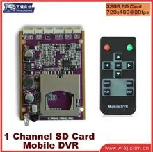 h.264 1-channel dvr Module for mini bus / taxi ----DVR8580
