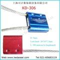 De alta seguridad ajustable 3mm directamente de la fábrica de envío baratos contenedores sello sello del cable para camiones uno tiempo sello de metal kd-306