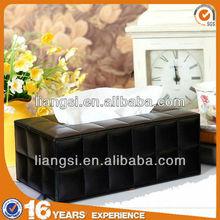 Leather tissue case, custom printed tissue box