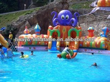 Inflatable Water Park Water Slide Funny Cute Octopus Slides For Swimming Pool With Castle Design