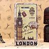 FL3279 2013 Guangzhou hot selling retro london big ben wallet leather flip landmark case for iphone 4 4s