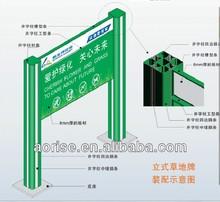 Standing aluminium street directory pylon sign