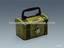 unique design tin box for money saving