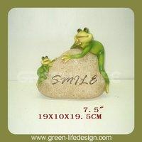 Smiles frog stone garden ornaments frog