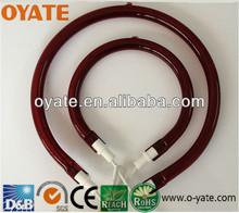 Red Tube ,Near Infrared RUBY,quartz heating tube