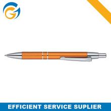 Yellow Simple Spring Metal Click Ball Pen