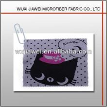 Microfiber character black cat clean cloth