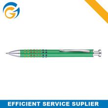 Color Grip Green Metal Click Ball Pen