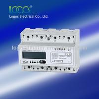 LOGOS DIN Rail Three Phase Multi-rate DIN Rail Mounted kWh Meters 3-phase digital panel meter