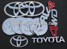 Car badges auto emblems for Toyota logo aoto stickers chrome badge