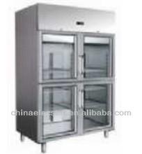 upright merchandiser with double glass door,GN cabinet 650series,restaurant equipment,cooler showcase