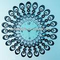 Grand décoratif horloge, Fer forgé