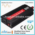 high quality!! 500W DC-AC modified sine wave mini car power inverter dc 12v ac 220v circuit diagram with USB output(Y8500)