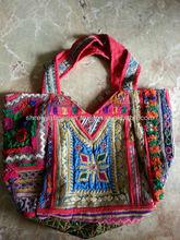 Banjara Coin Mirror work Big Jhola Bag Messenger Bag Vintage India handicraft