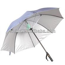 25 inches 8 ribs straight umbrella with fan sun umbrella
