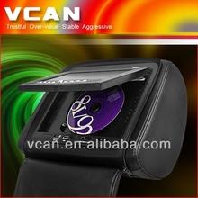 7' headrest dvd player for audi Divx MP4 USB SD player Game HAV-733