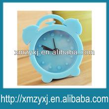 classic funny decorative silicone mini alarm clock blue
