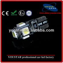 t10 canbus 5SMD 5050smd auto led light dashboard LED bulb instrument LED light