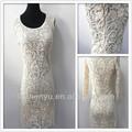 Novos chegada mulheres elegantes roupa branca moda vestido de renda designs para a senhora